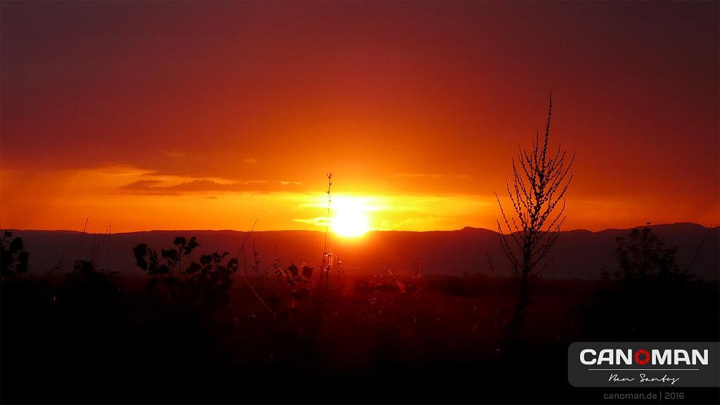 Sonnenaufgang in Südfrankreich